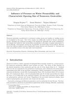 Inuence of Pressure on Water Permeability and Characteristic Opening Size of Nonwoven Geotextiles