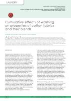 Cumulative effects of washing on properties of cotton fabrics and their blends